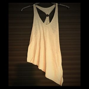 Free people side drop top with stylish ring back